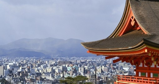 Stand above the city while visiting Kiyomizu Temple on your Japanese Vacation