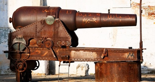 Cannon in Tanger, old Medina, Morocco