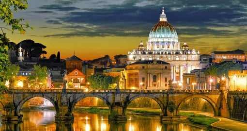 The State of Vatican City, in the center of Rome, is the smallest state in Europe