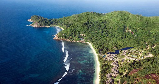 The Kempinski Seychelles Resort is situated on the exclusive south-end of Mahe Island