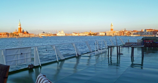 The Sun Deck on the La Bella Vita in Venice.