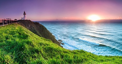 Byron Bay lighthouse at sunrise