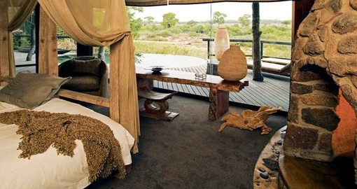 Relax in your  luxury suite after a very busy day during your next South Africa safari.