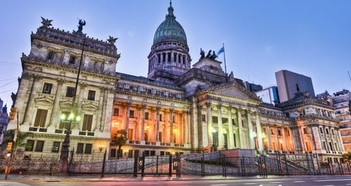 See the Impressive National Congress in Buenos Aires on you South American Tour