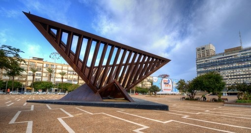 The Holocaust monument at Rabin Square is a must visit on all Tel Aviv tours.