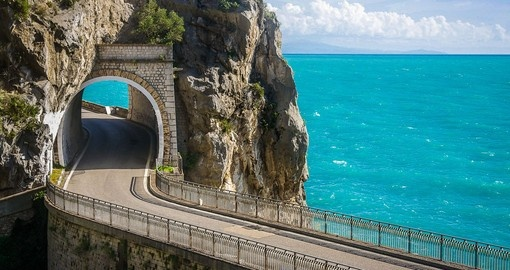 Drive along the Amalfi Coast during your Italy vacation.