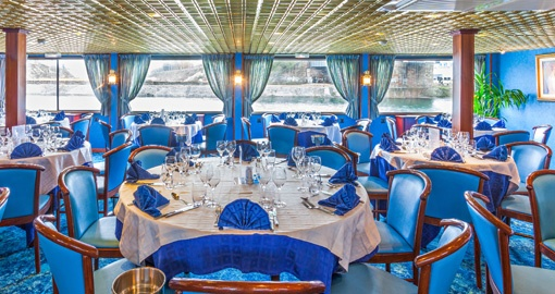 The Restaurant on the MS Victor Hugo.