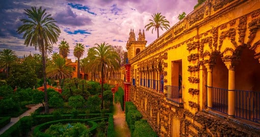 The Alcazar of Seville is the oldest royal palace still in use in Europe