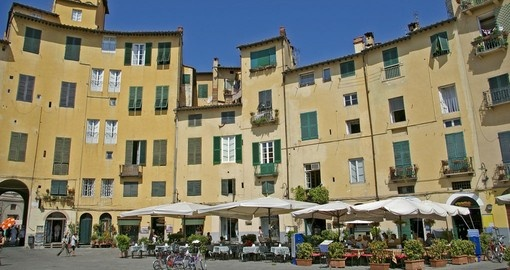 Lucca - Piazza dell'Anfiteatro, old town square in Lucca, Tuscany