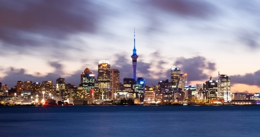 Be impressed with Auckland's skyline including Sky Tower
