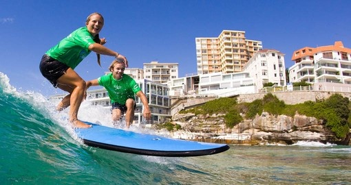 Include a surfing lesson on your Australia Vacation