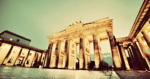 The iconic Brandenberg Gate is visited on your German vacation