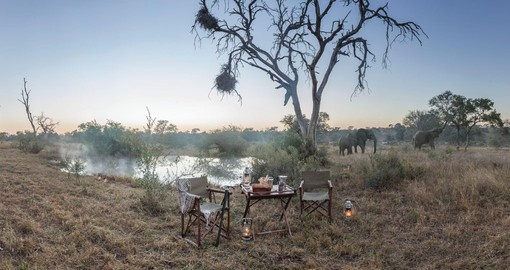 Explore all the amenities of the Kings Camp during your next South Africa safari.
