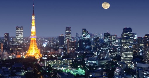 Wander throughout the streets of Tokyo and experience the vibrant nightlife on your Japanese Vacation