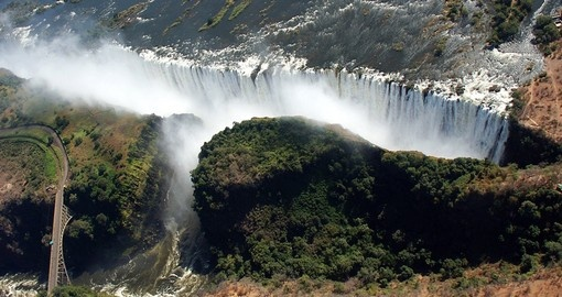 Experience birds Eye View of Victoria Falls on your next Zimbabwe tours.