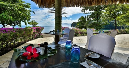 Have a delicious meal at Beach Restaurant during your next trip to Tahiti.