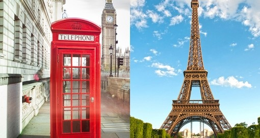 Visit two very beautiful and historical cities London and Paris during your next Europe vacations.