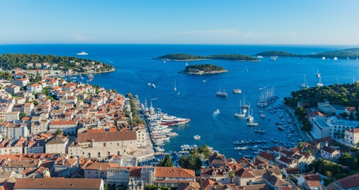 Take in the port of Hvar on your Croatia Vacation