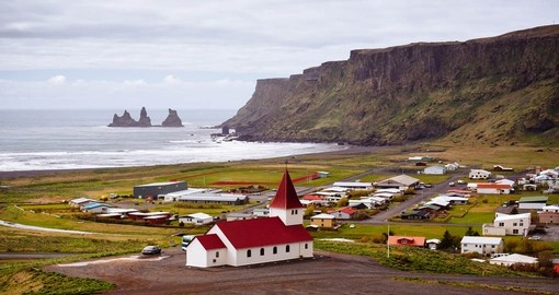 Discover small city Vik on your next trip to Iceland.