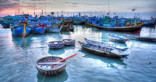 The marina at Phan Thiet is a great photo opportunity while on your Vietnam vacation.