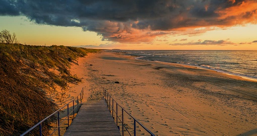 Sunset on the Curonian Spit