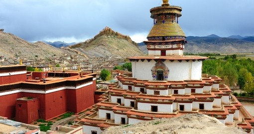 Palcho Monastery is the main monastery in Gyantse and is a great photo opportunity on our China tours.