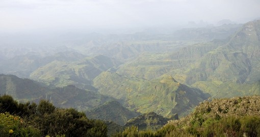 Landscape of Simien Mountains Park