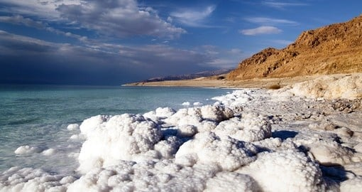 Goway`s Jordan packages take you to the salt crusted Dead Sea Coastline