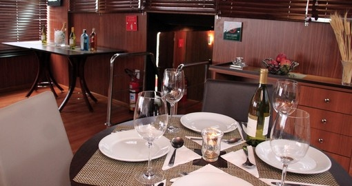 Dining onboard the Desafio