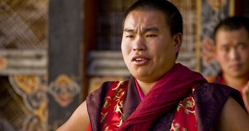 Meet local Monks on your Bhutan vacation