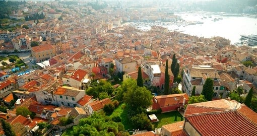 The Dalmatian coast from the city of Rovinj