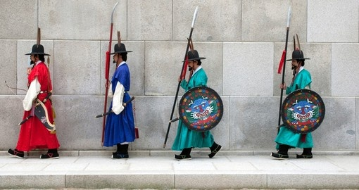 Changing of the guard at Gyeongbokgong Palace