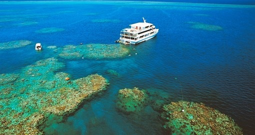 Enjoy exclusive moorings, right on the reef