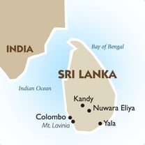 Sri Lanka Country Map