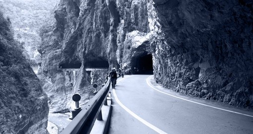 Explore the many tunnels of Taroko Gorge during your Taiwan Vacation.