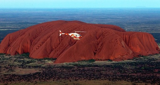 Experince a scenic flight over Ayers Rock and Kata Tjuta on your Australia Vacation