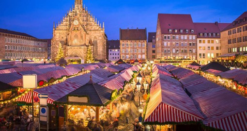 Hauptmarkt is the site of Nuremberg's market,  often rated as Germany's finest