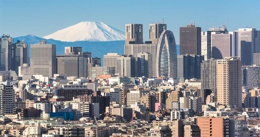 Tokyo, Japan's busy capital, mixes the ultramodern and the traditional