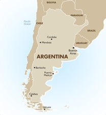 Argentina Destination Map