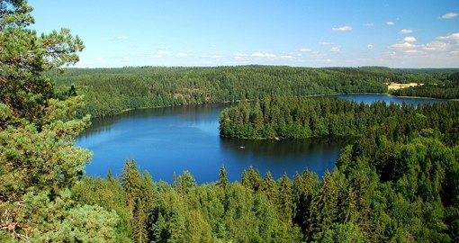 Beautiful Finnish region of a thousand lakes
