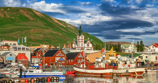 The town of Husavik is known for being the whale watching capital of Europe