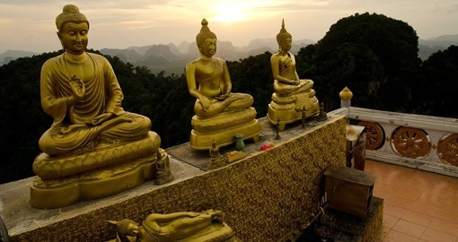 Wat Tum Sua or Tiger Cave Monastery is a popular inclusion when booking one of our Thailand tours.