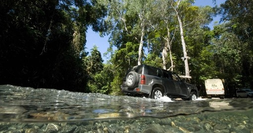 Experience 4WD - Creek Crossing on your next Australia tours.