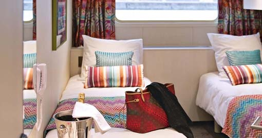 The Cabin on the MS Jeanine.