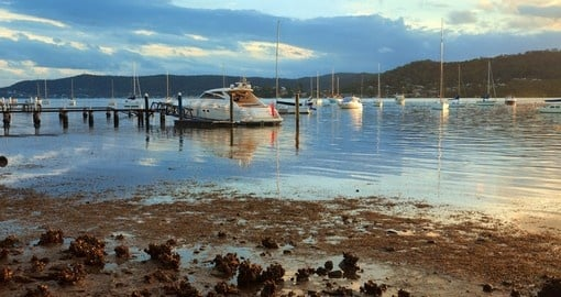 Boat moorings in the Central Coast Waterway