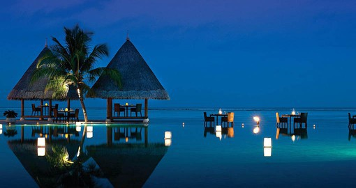 The Four Seasons at Kuda Huraa sits on a private coral island
