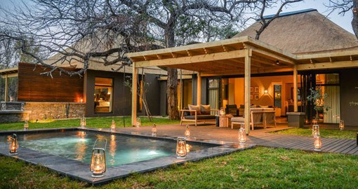 Enjoy luxury accommodation at Tinga Lodge on your South African Tour