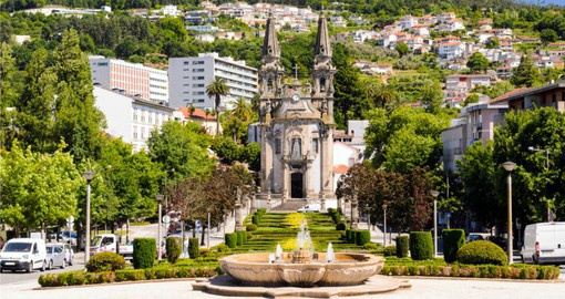 Visit the historic church at Guimaraes on your Portugal Vacation