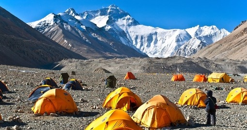 Base camp at an altitude of 5200m