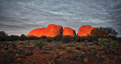 Kata Tjuta is sacred to the local Aboriginal Anangu people, who have inhabited the area for more than 22,000 years
